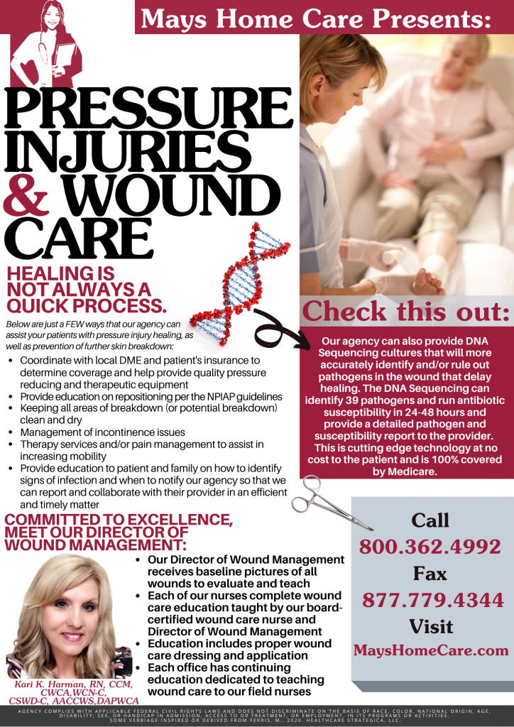 Pressure Injuries and Wound Care Flyer