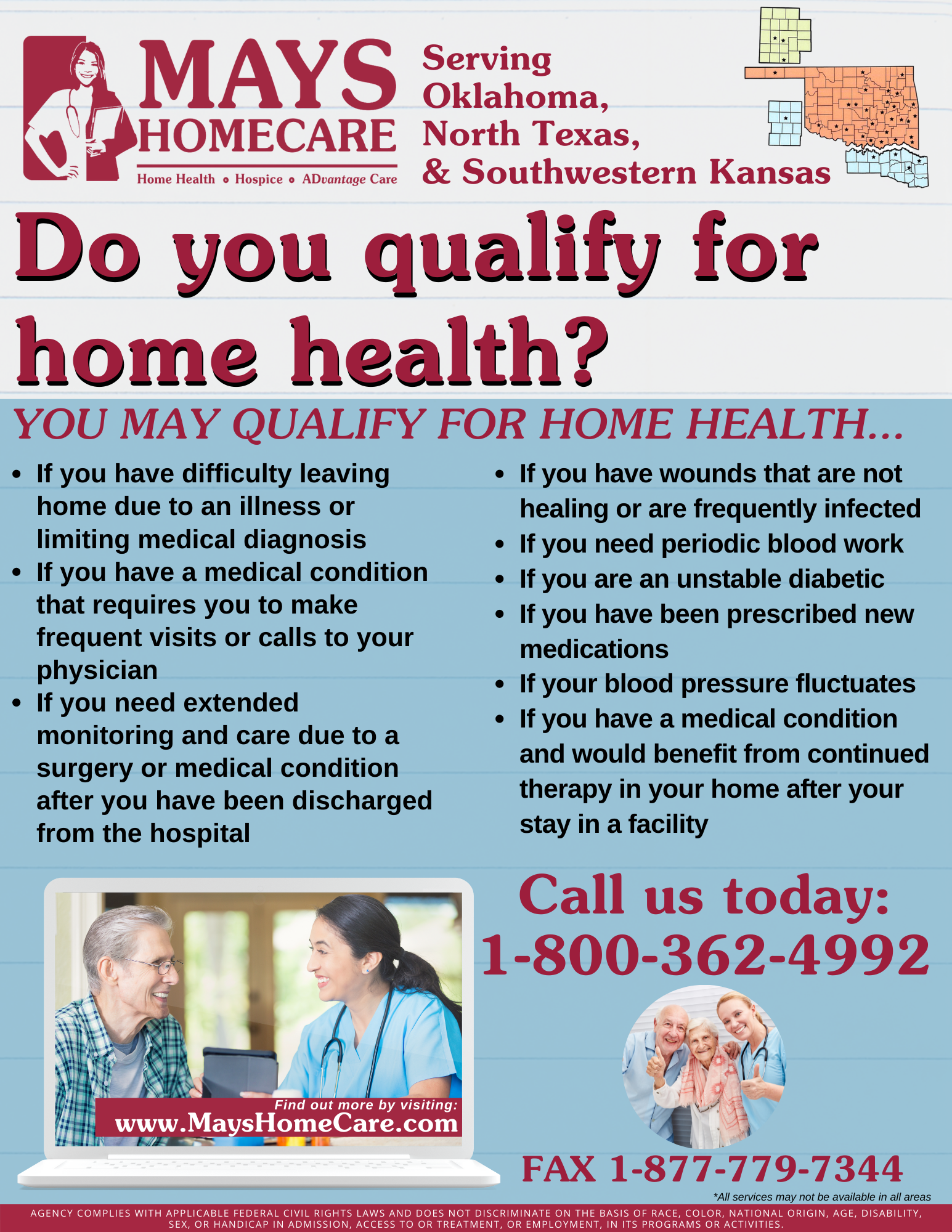 Qualifying for home health with Mays Home Health Care